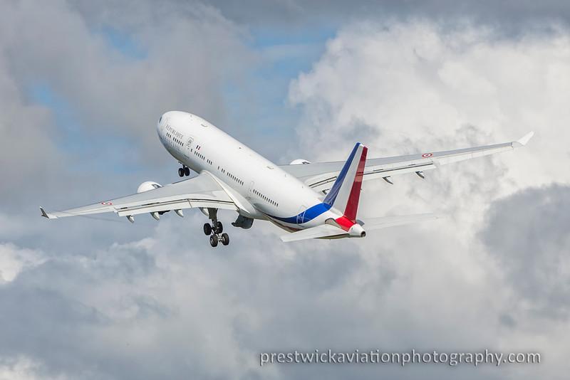 F-RARF. Airbus A330-223. French Air Force. Prestwick. 310815.