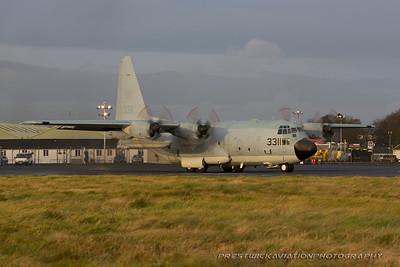 163311. Lockheed KC-130T Hercules. US Navy. Prestwick. 041215.
