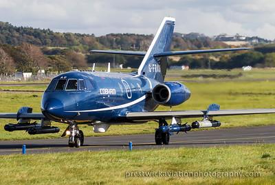 G-FRAO. Dassault Falcon 20DC. Cobham. Prestwick. 131015.