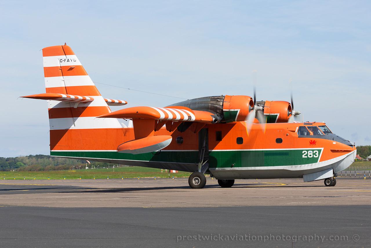 C-FAYU. Canadair CL-215-V. Buffalo Airways. Prestwick. 220615.