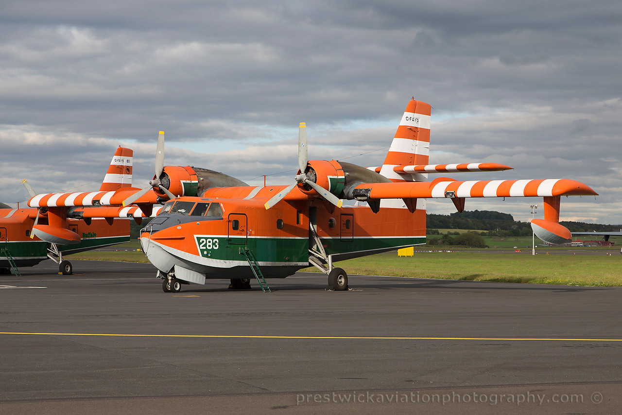 C-FAYU. Canadair CL-215-V. Buffalo Airways. Prestwick. 220615.