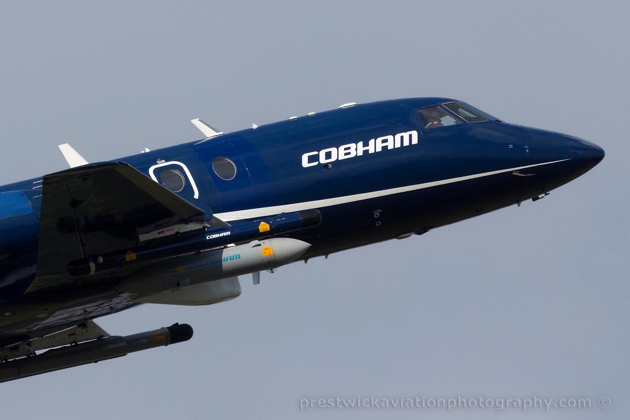 G-FRAO. Dassault Falcon 20DC. Cobham. Prestwick. 170415.