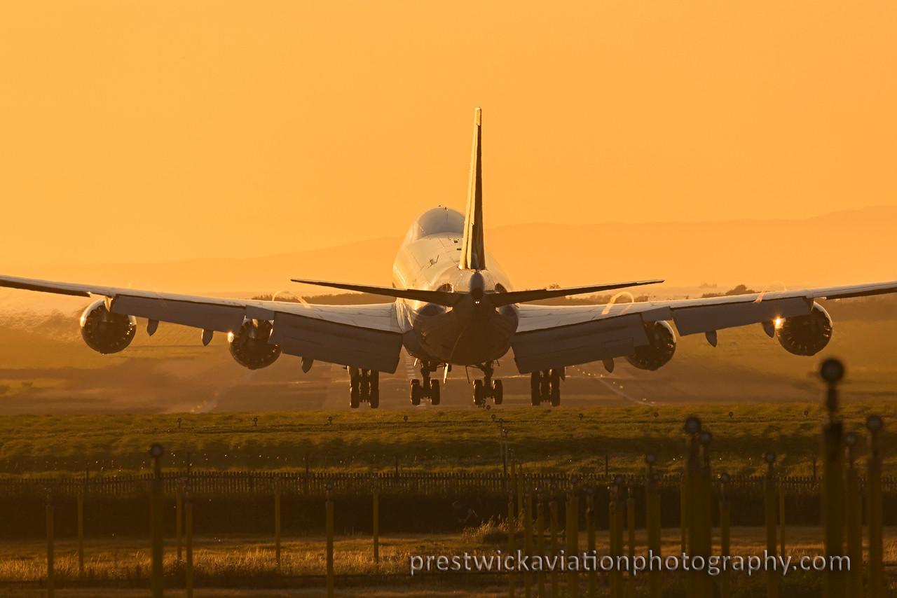 LX-VCK. Boeing 747-8R7F/SCD. Cargolux. Prestwick. 170815.