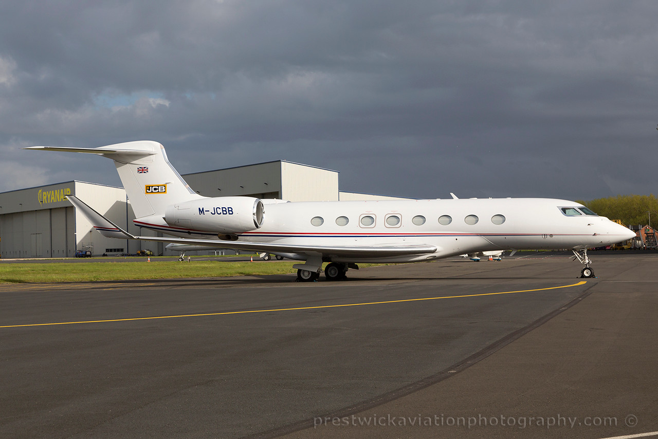 M-JCBB. Gulfstream Aerospace G650. Private. Prestwick. 160515.