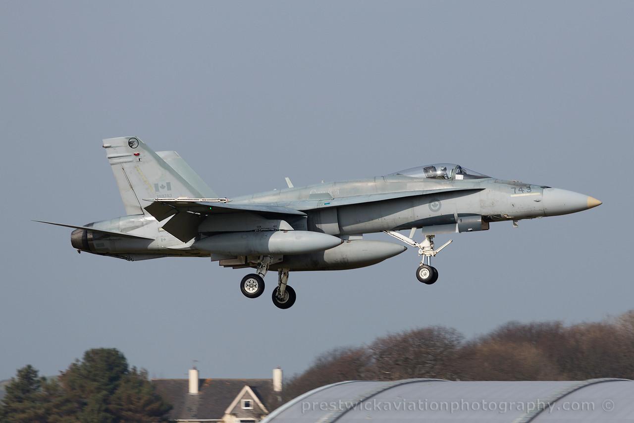 188743. McDonnell Douglas CF-188A Hornet. Canadian Air Force. Prestwick. 100415.
