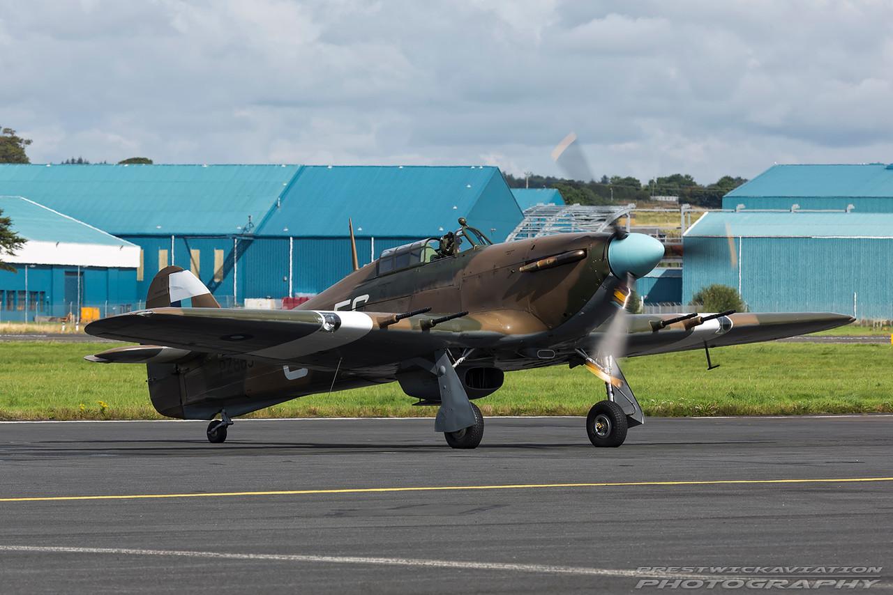 PZ865. Hawker Hurricane Mk.IIC. BBMF. Prestwick. 040916.