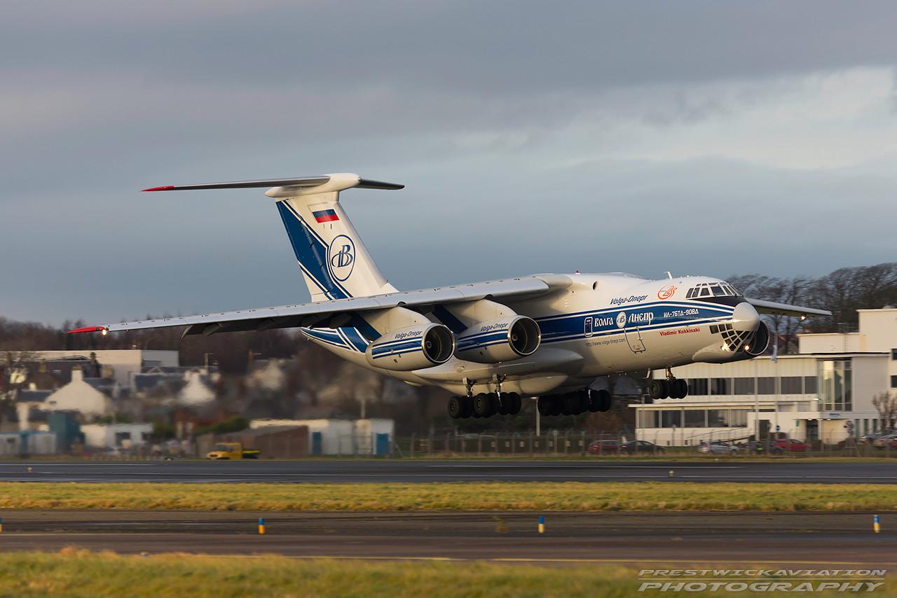 RA-76950. Ilyushin Il-76TD-90VD. Volga Dnepr Airlines. Prestwick. 131216.