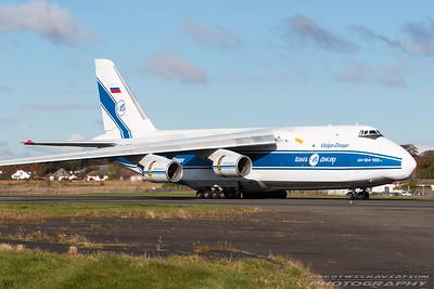 RA-82044. Antonov An-124-100 Ruslan. Volga Dnepr Airlines. Prestwick. 241016.