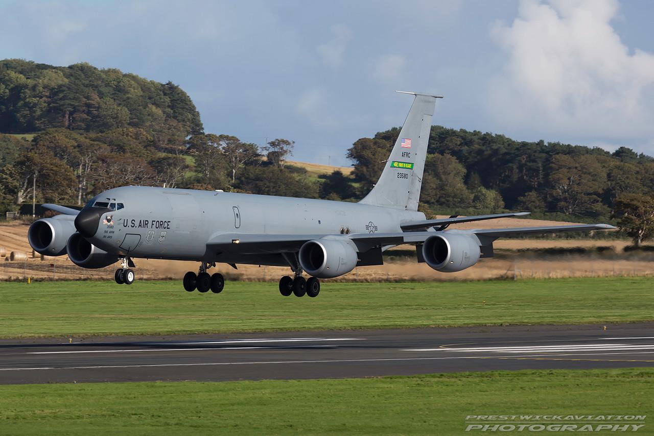 62-3580. Boeing KC-135R Stratotanker. USAF. Prestwick. 300916.