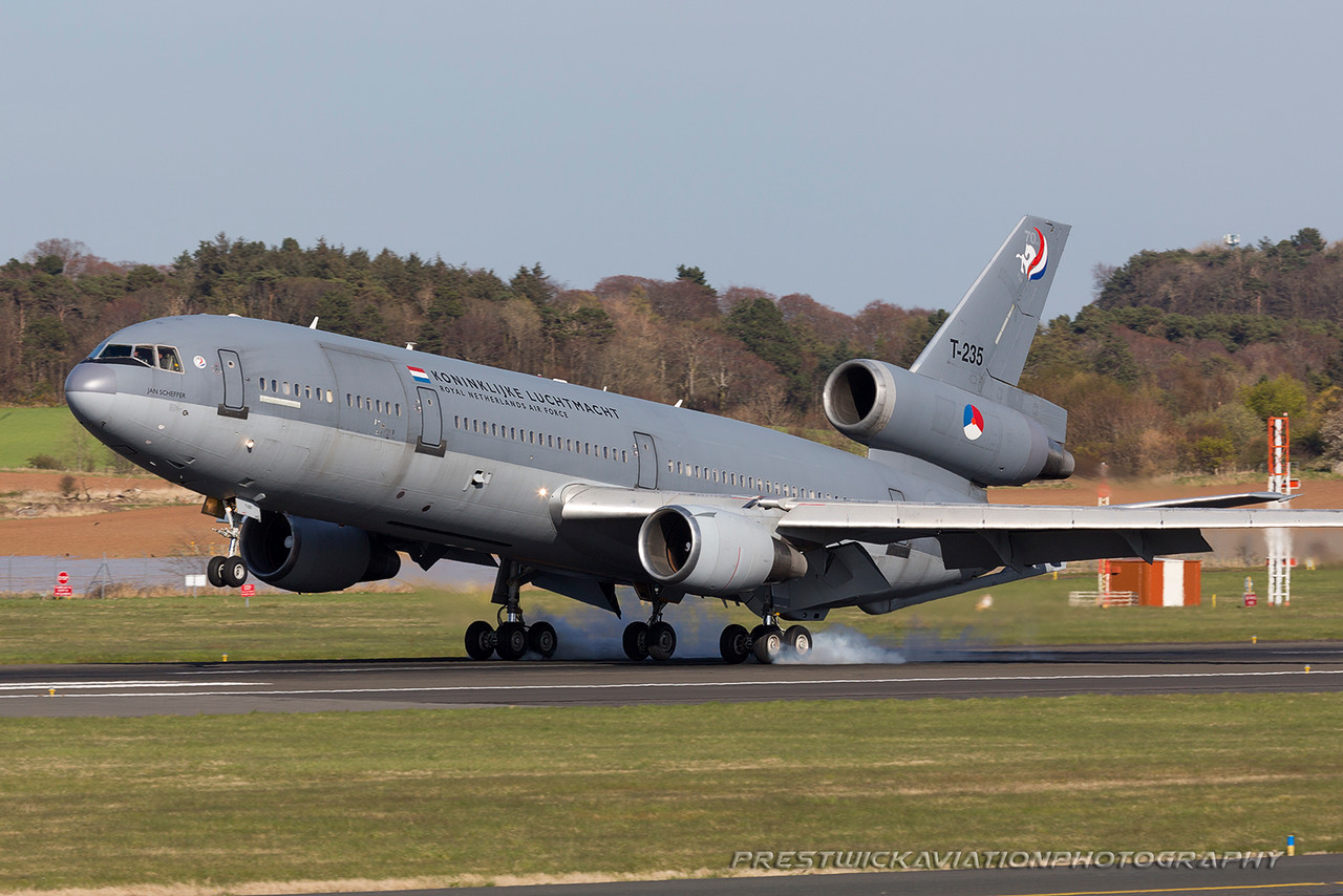 T-235. McDonnell Douglas KDC-10-30CF. Dutch Air Force. Prestwick. 210416.