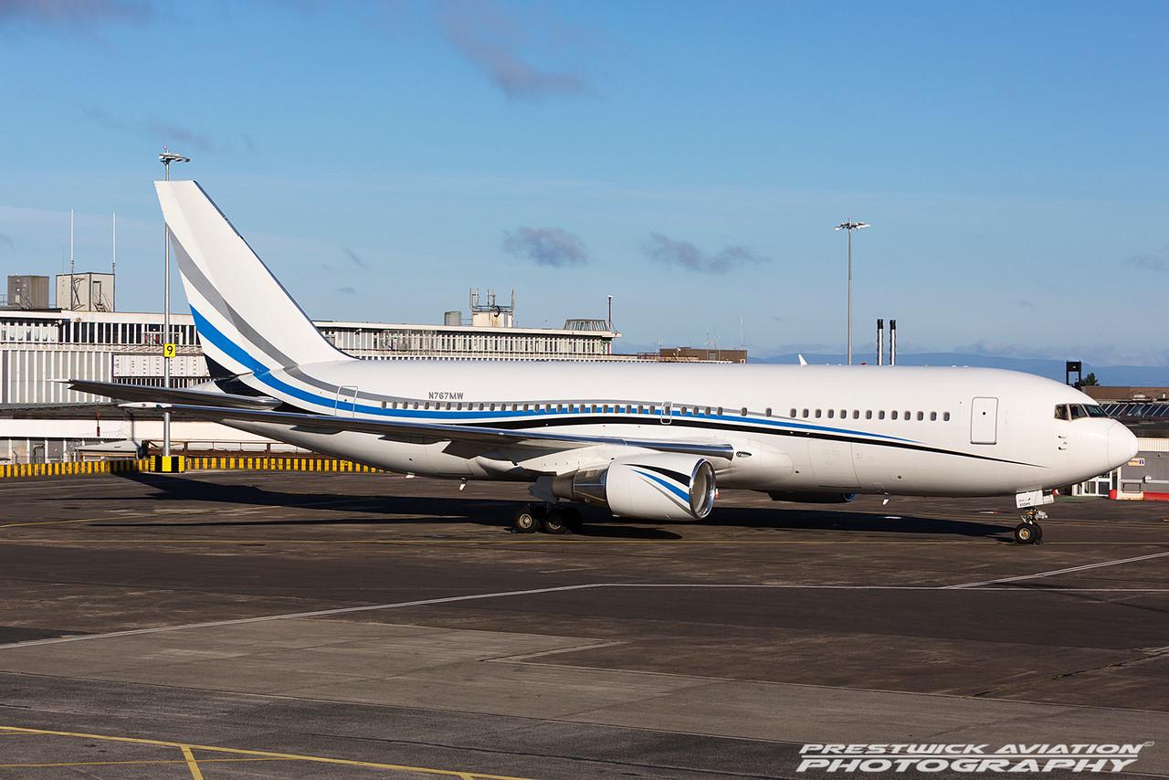 N767MW. Boeing 767-277. Atlas Air. Prestwick. 140716.