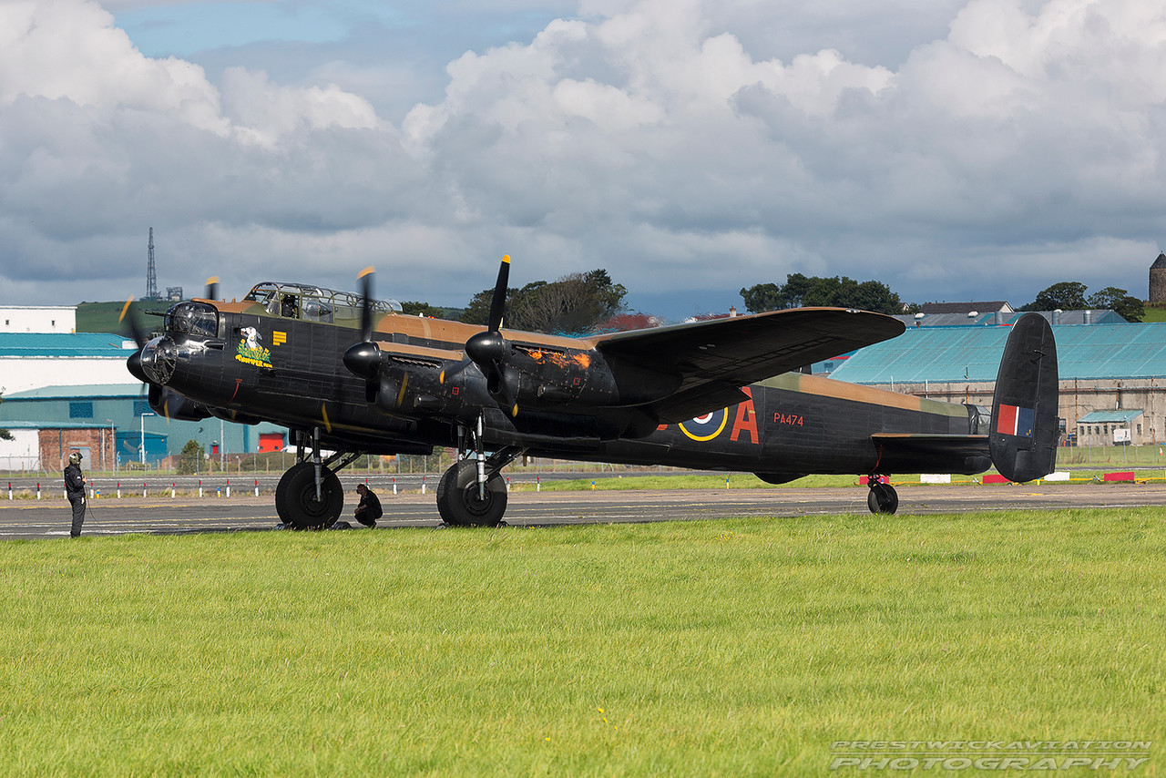 PA474. Avro 683 Lancaster B1. BBMF. Prestwick. 040916.