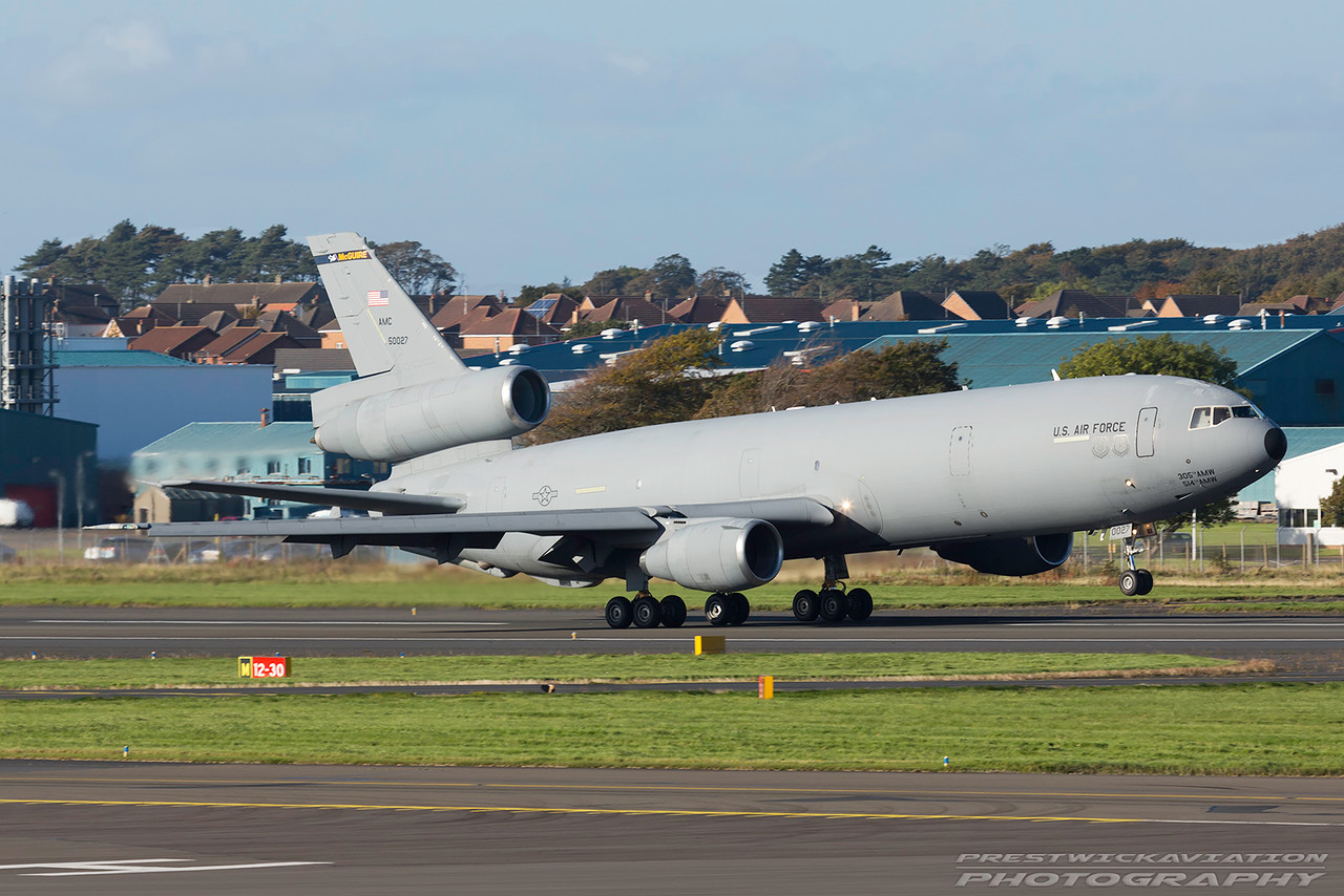 85-0027. McDonnell Douglas KC-10A Extender. USAF. Prestwick. 061016.