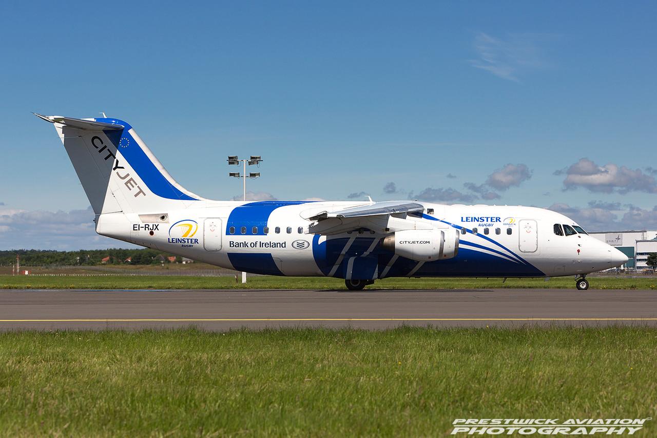 EI-RJX. British Aerospace Avro 146-RJ85. Cityjet. Prestwick. 140716.