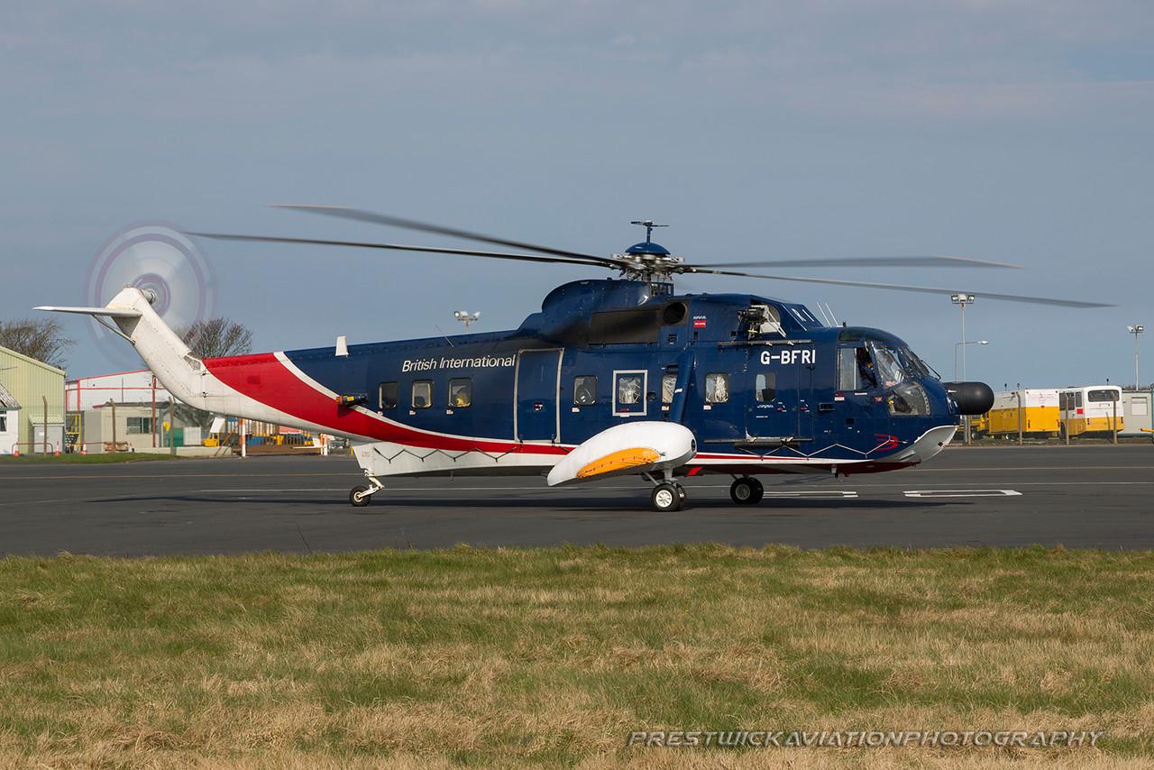 G-BFRI. Sikorsky S-61N MkII. British International Helicopters. Prestwick. 110416.