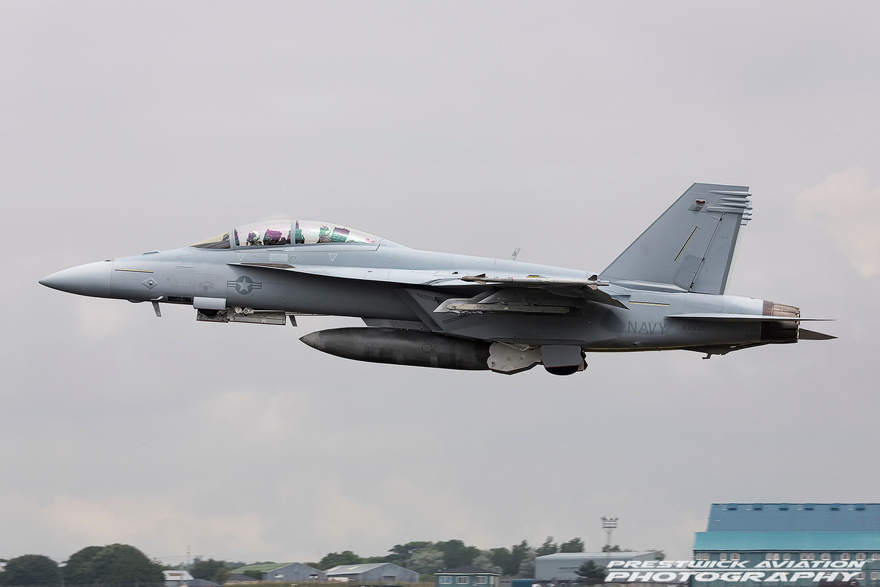 168930. Boeing FA-18F Super Hornet. US Navy. Prestwick. 210716.