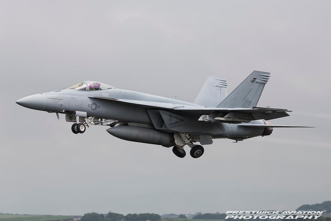 169119. McDonnell Douglas FA-18E Hornet. US Navy. Prestwick. 210716.