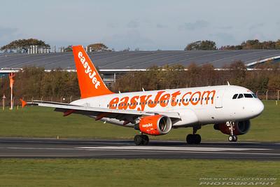 G-EZMK. Airbus A319-111. Easyjet. Prestwick. 261016.