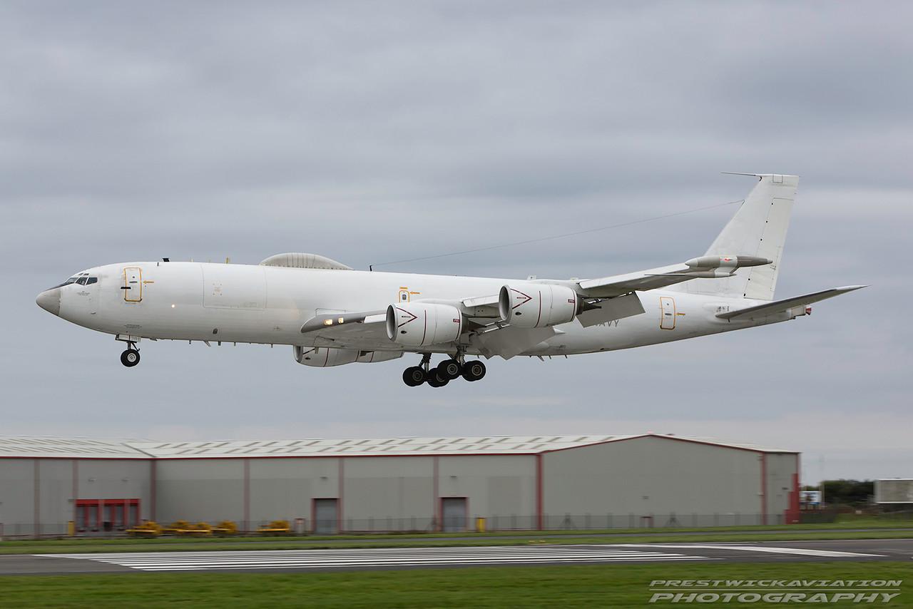 164386. Boeing E6-B. US Navy. Prestwick. 081016.