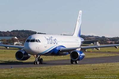 VT-IDZ. Airbus A320-232. IndiGo. Prestwick. 261016.