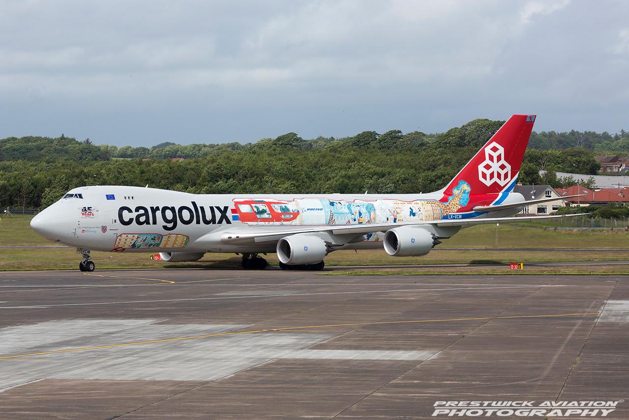 LX-VCM. Boeing 747-8R7F/SCD. Cargolux. Prestwick. 0207016.