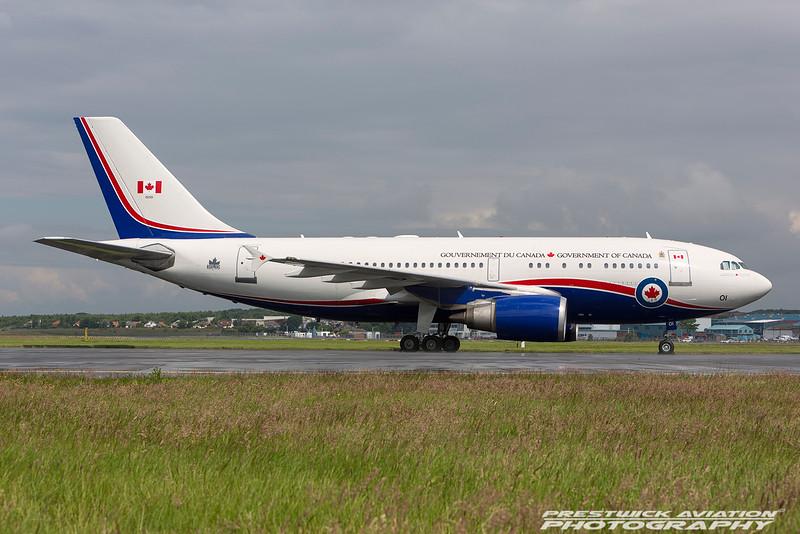 15001. Airbus CC-150 Polaris. Canadian Air Force. Prestwick. 240616.