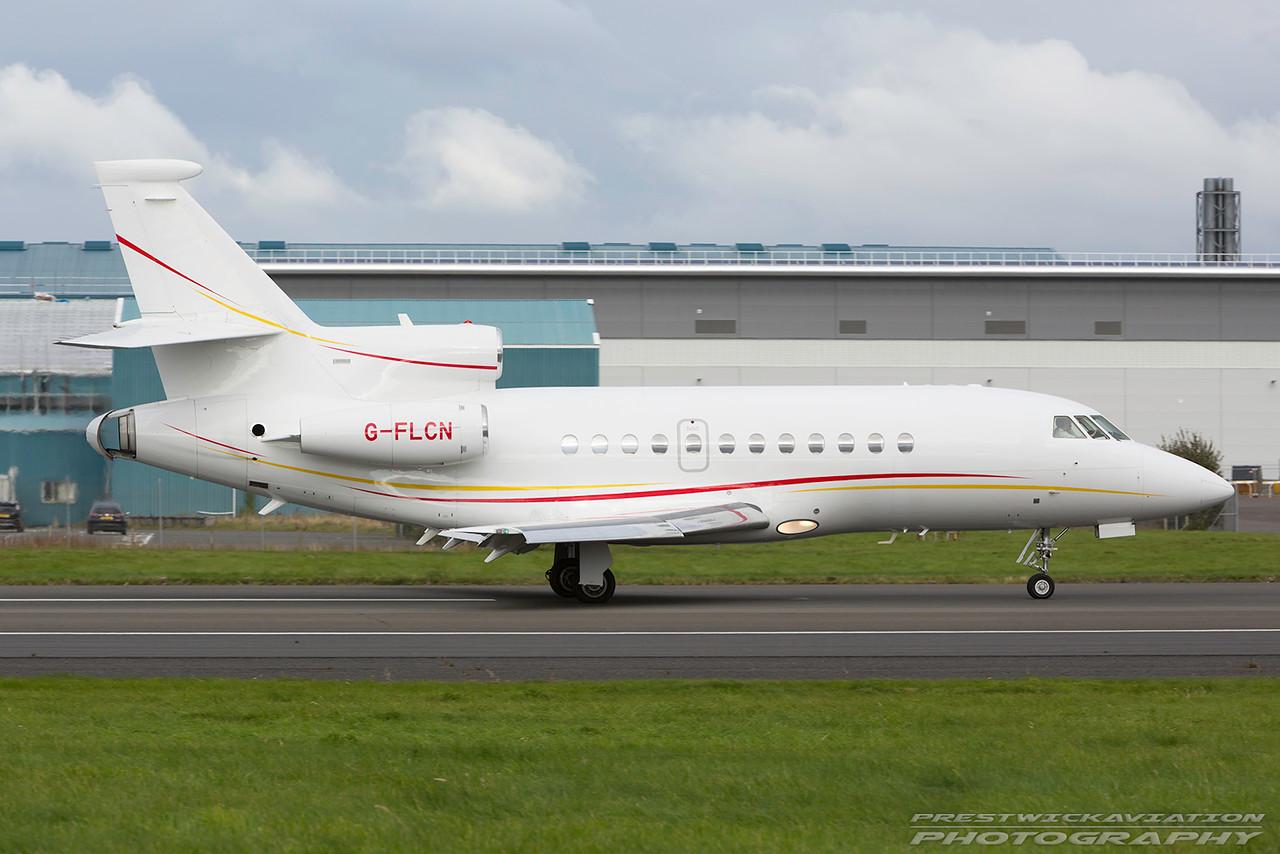G-FLCN. Dassault Falcon 900B.  Private. Prestwick. 111016.