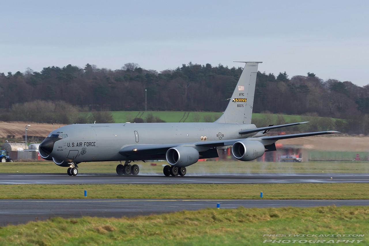 58-0075. Boeing KC-135R Stratotanker. USAF. Prestwick. 171216.