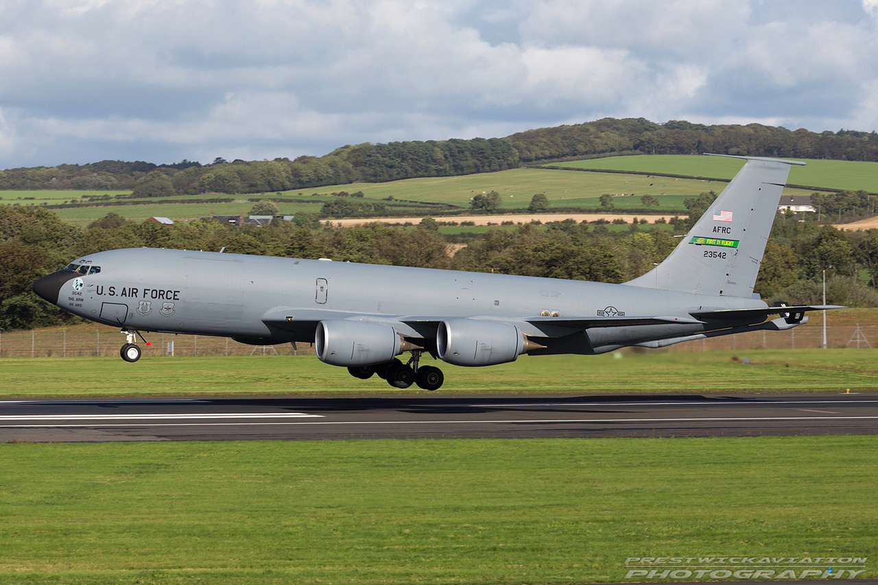 62-3542. Boeing KC-135R Stratotanker. USAF. Prestwick. 300916.