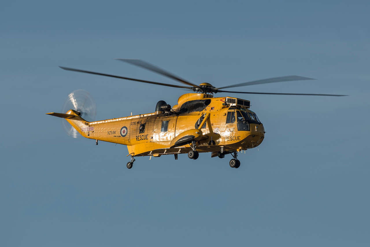 XZ596. Westland WS-61 Sea King HAR3. RAF. Prestwick. 140316.