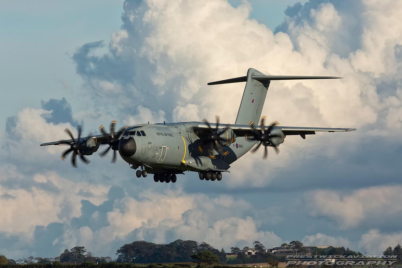 ZM400. Airbus A400M Atlas C1. RAF. Prestwick. 011016.