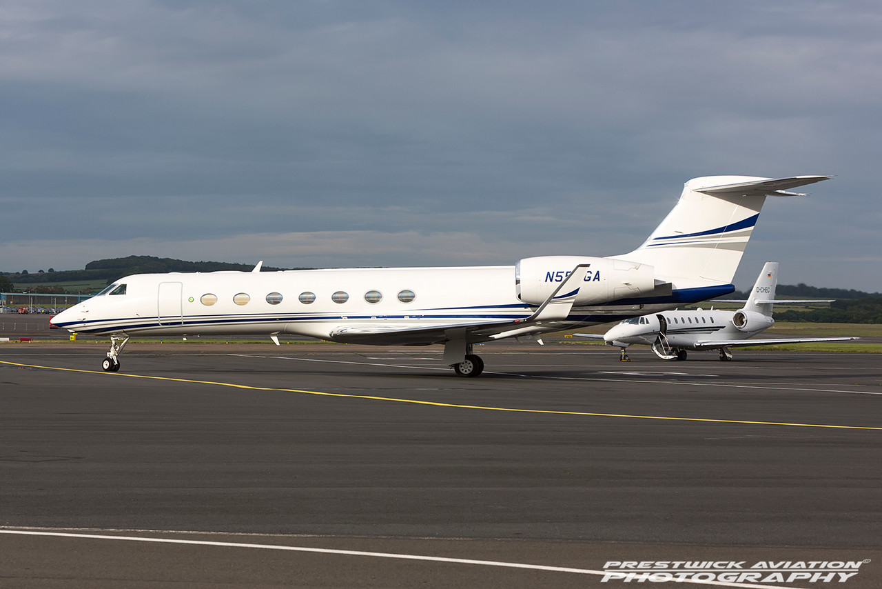 N550GA. Gulfstream Aerospace GV-SP. Private. Prestwick. 170716.