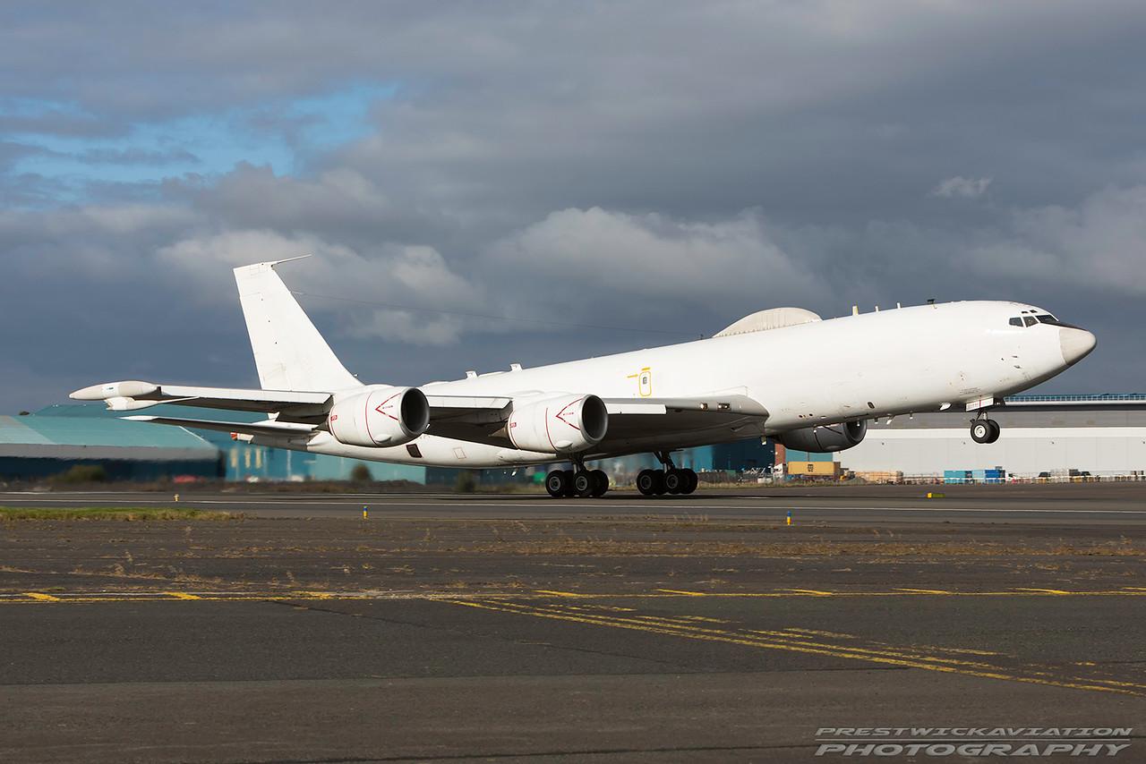 164386. Boeing E6-B. US Navy. Prestwick. 111016.