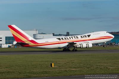 N793CK. Boeing 747-222B(SF). Kalitta Air. Prestwick. 221016.