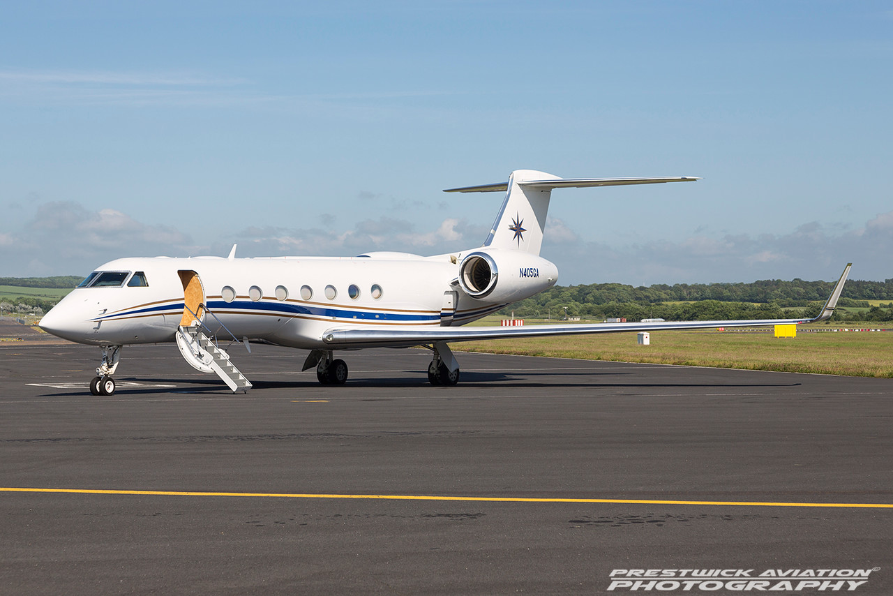 N450GA. Gulfstream Aerospace Gulfstream V. Private. Prestwick. 180616.