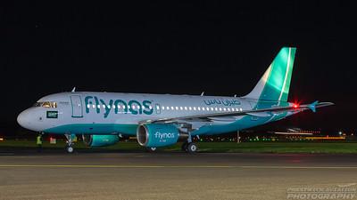 VP-CYE. Airbus A319-112. Flynas. Prestwick. 061116.