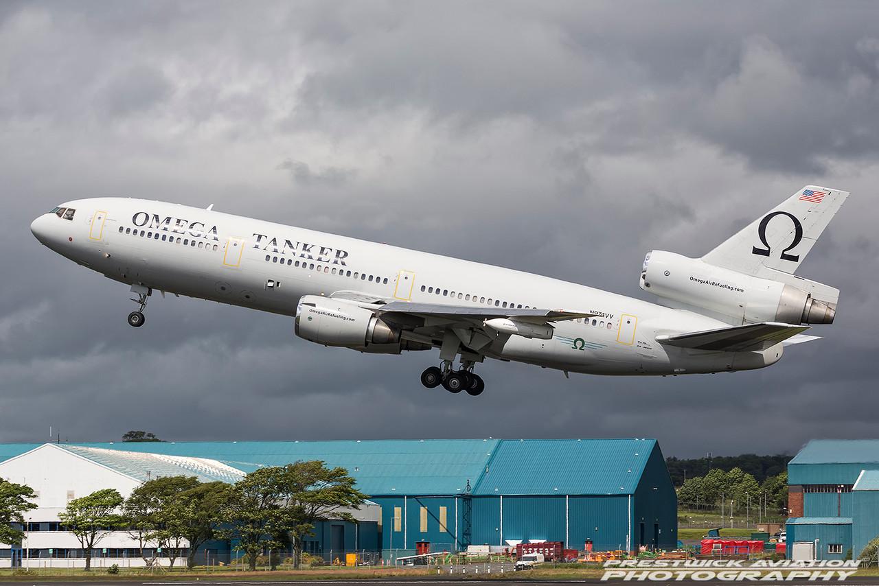 N974VV. McDonnell Douglas KDC-10-40I. Omega Air. Prestwick. 020716.