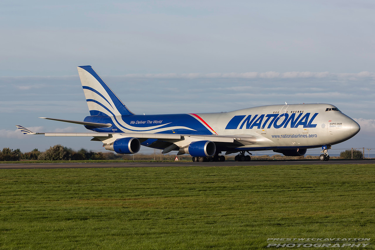 N952CA. Boeing 747-428M/BC(F). National Airlines. Prestwick. 101016.