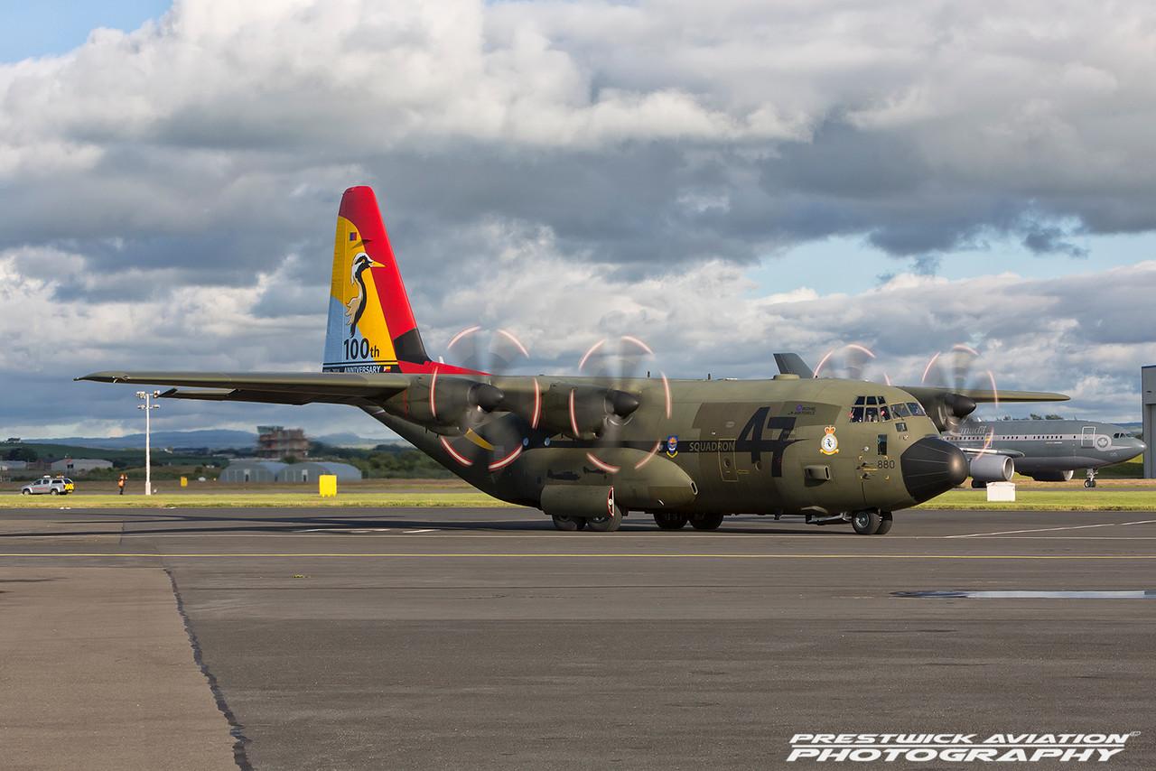 ZH880. Lockheed Martin C-130J Hercules C5. RAF. Prestwick. 050716.