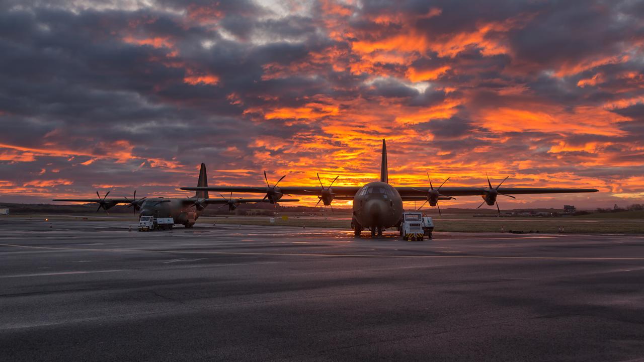 ZH880. Lockheed Martin C-130J Hercules C5. RAF. Prestwick. 030316.