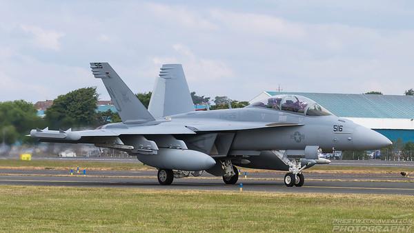 169136 (NJ516). Boeing EA-18G Growler. US Navy. Prestwick. 110618.