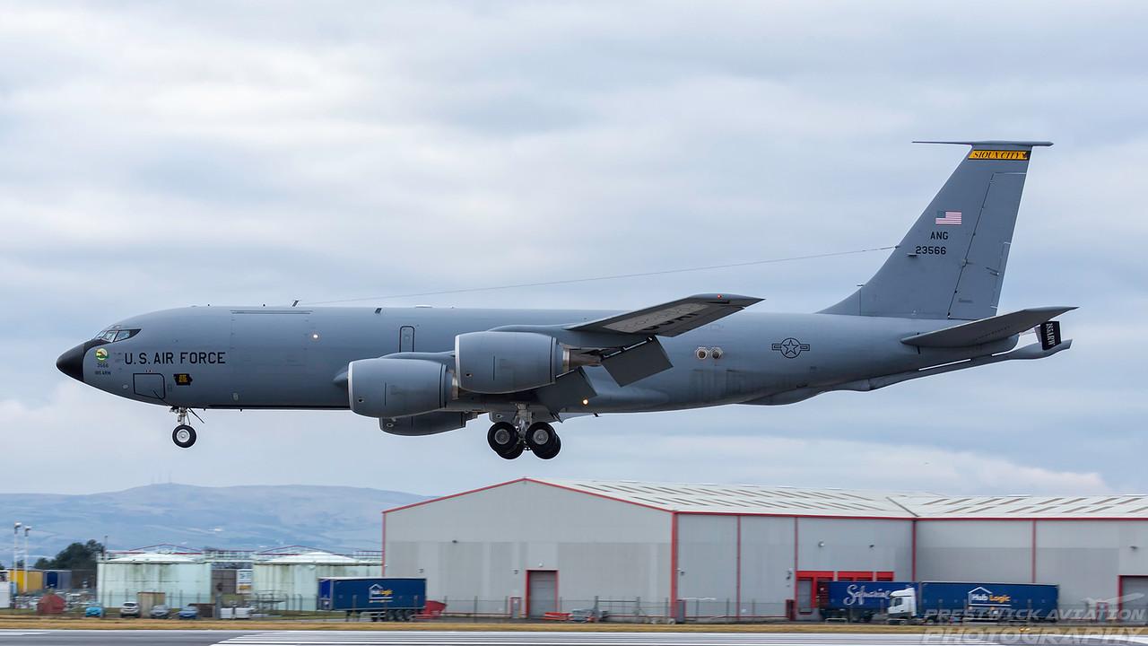 62-3566. Boeing KC-135R Stratotanker. USAF. Prestwick. 070318.