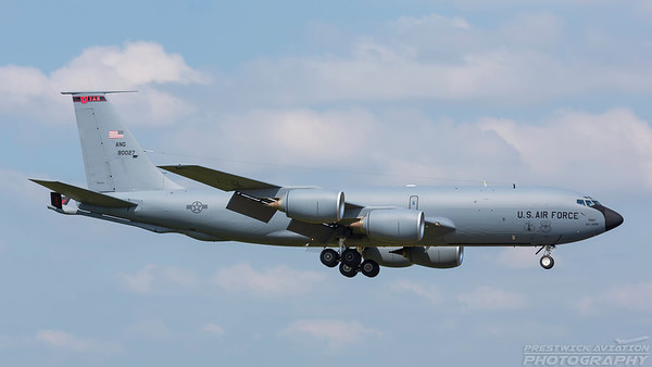 58-0027. Boeing KC-135R Stratotanker. USAF. Prestwick. 300518.