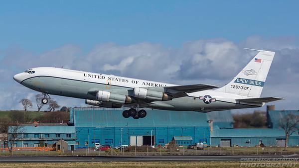 61-2670.  Boeing OC-135B. USAF - Open Skies. Prestwick. 050418.