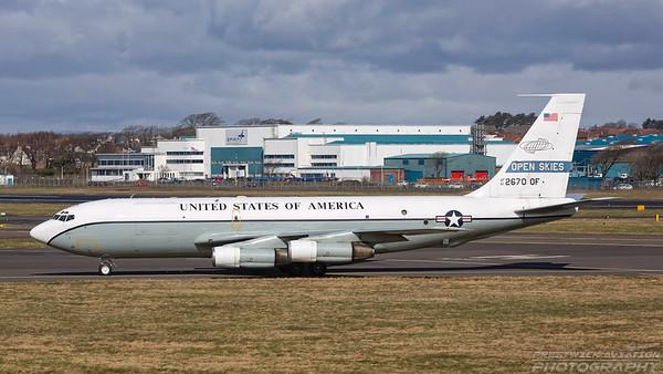 61-2670.  Boeing OC-135B USAF - Open Skies. Prestwick. 050418.
