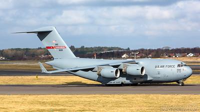 09-1190. Boeing C-17A Globemaster III. USAF. Prestwick. 120318.