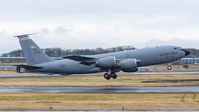 58-0009. Boeing KC-135R Stratotanker. USAF. Prestwick. 070318.
