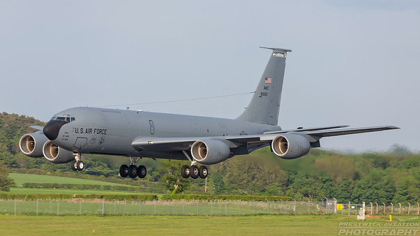 58-0103. Boeing KC-135R Stratotanker. USAF. Prestwick. 240518.
