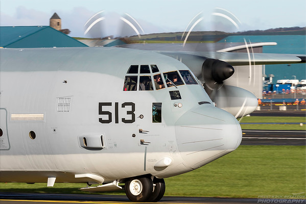 166513. Lockheed Martin KC-130J Hercules. US Marines. Prestwick. 261018.