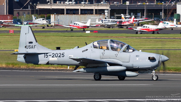 15-2025. Embraer EMB 314 Super Tucano. Lebanese Air Force. Prestwick. 250518.